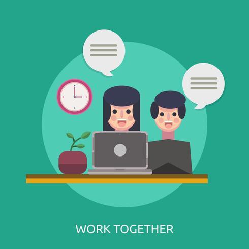 Arbeta tillsammans Konceptuell illustration Design