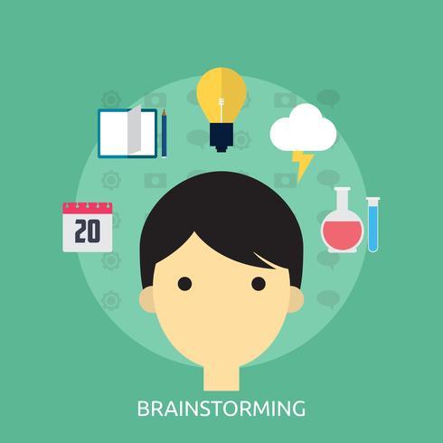 Brainstorming Conceptual illustration Design vector