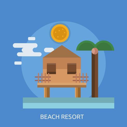 Strand Ressort Konceptuell illustration Design