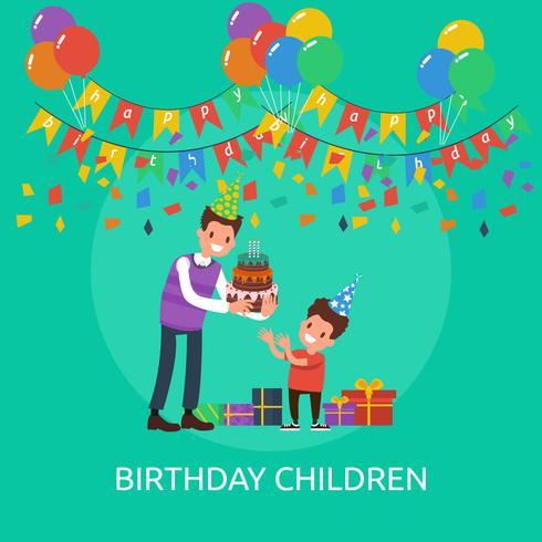 Cumpleaños Niños Conceptual Ilustración Diseño