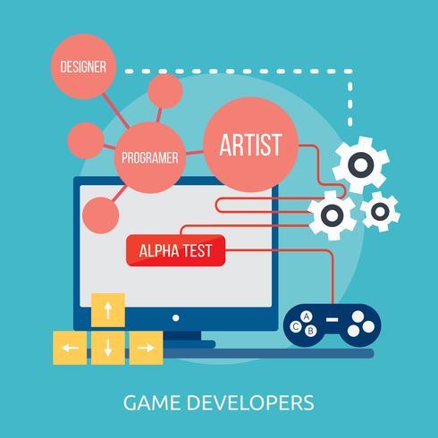 Game Developers Conceptual illustration Design