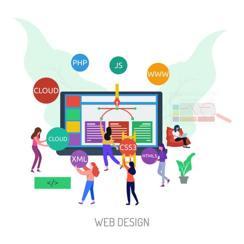 Web Design Illustration conceptuelle Design vecteur