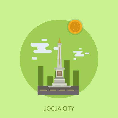 Ville de Jogja Illustration conceptuelle Design vecteur
