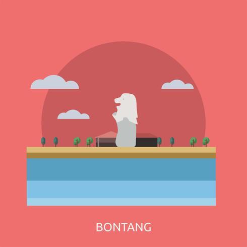 Bontang Conceptual illustration Design vector