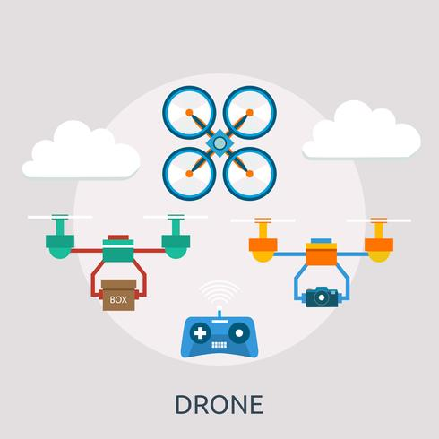 drone conceitual ilustração design