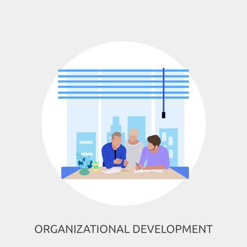 Desenvolvimento Organizacional Ilustração conceitual Design vetor
