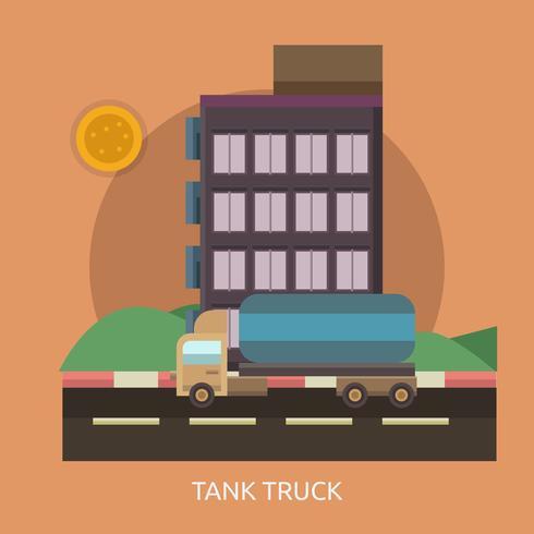 Tank Truck Conceptual illustration Design