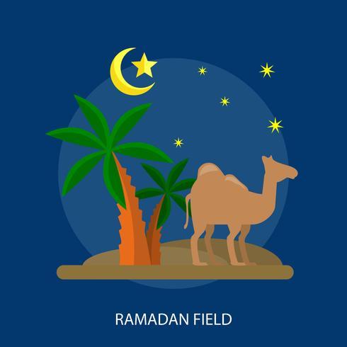 Ramadhan Field Conceptual illustration Design