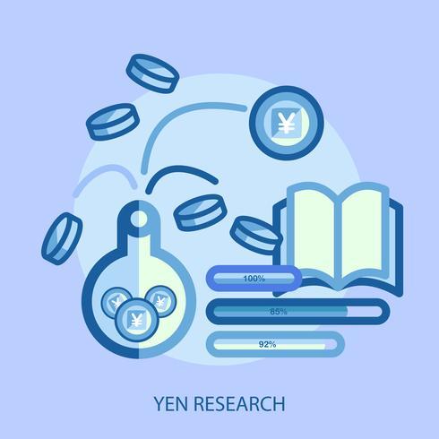 Yen investigación conceptual ilustración diseño