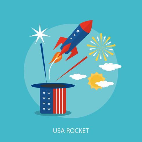 USA Rocket Conceptual illustration Design vector