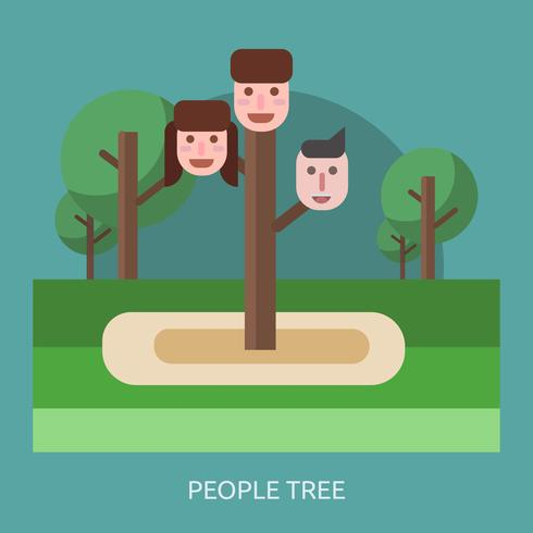 People Tree Conceptual illustration Design