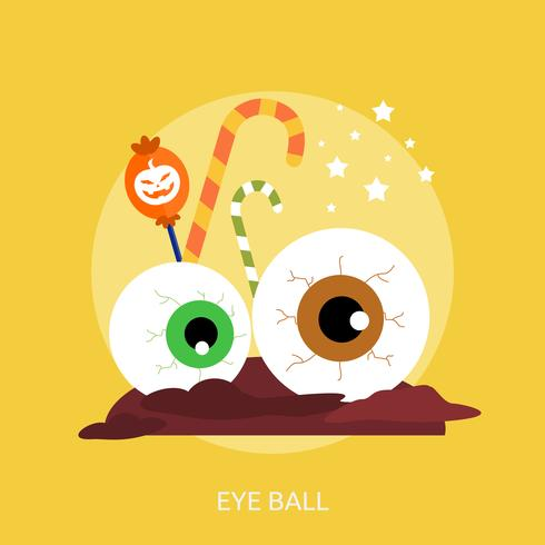 Eye Ball Conceptual illustration Design