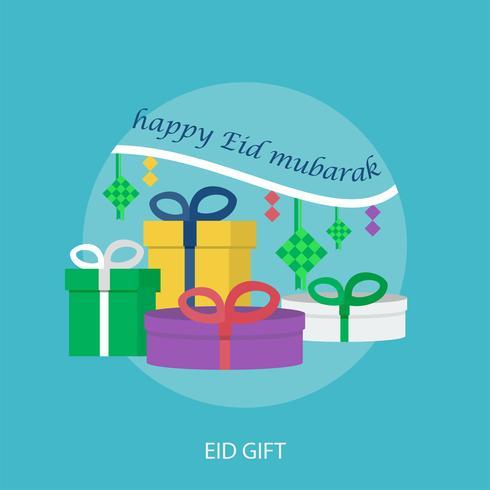 Eid Gift Conceptueel illustratieontwerp