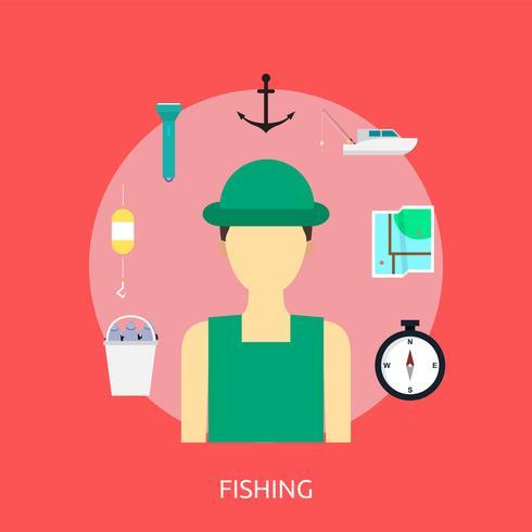 Pesca conceptual ilustración diseño
