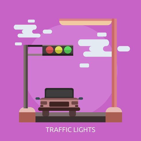 Ilustración conceptual de semáforos diseño