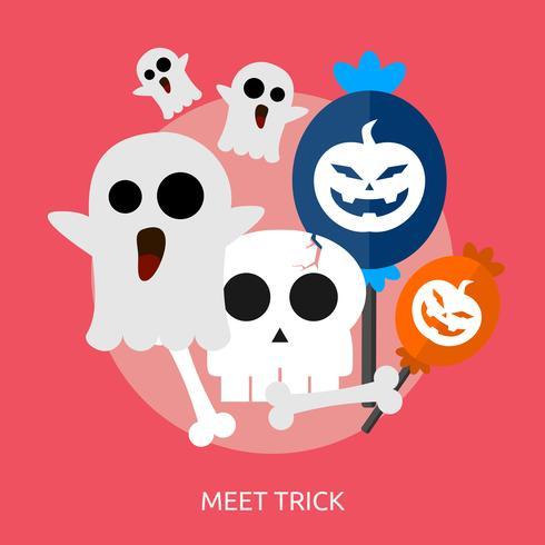 Meet Trick Conceptual illustration Design vector
