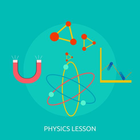 Cours de physique Illustration conceptuelle Conception