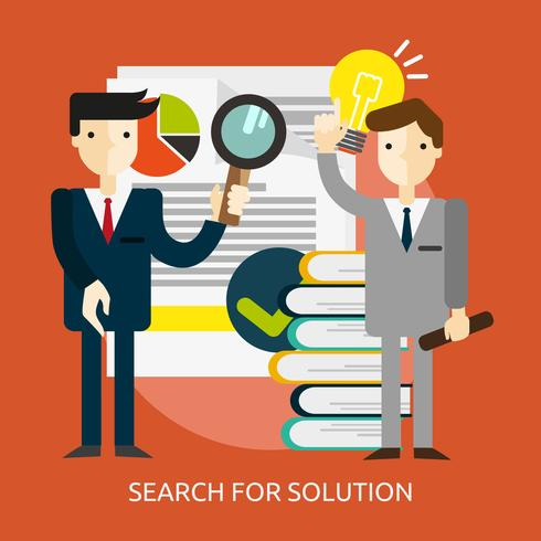 Search for Solution Conceptual illustration Design