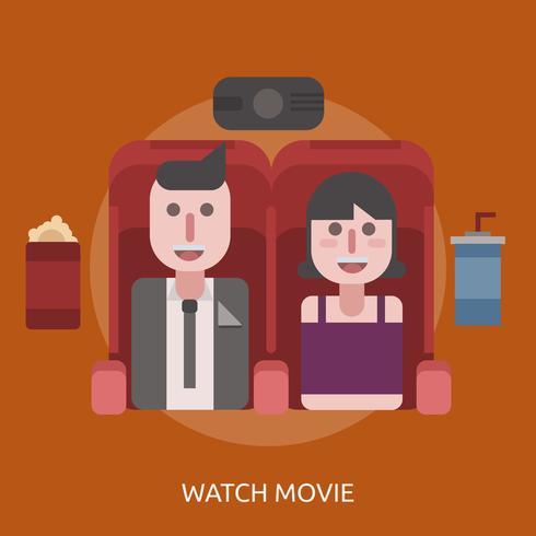 Watch Movie Conceptual illustration Design