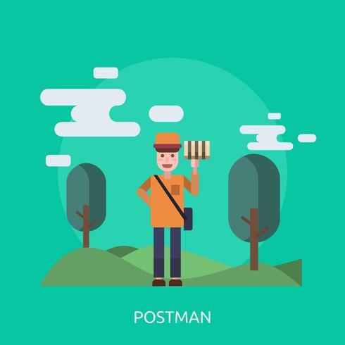 Postman Conceptual illustration Design