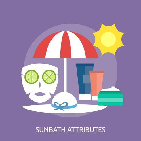 Progettazione concettuale dell'illustrazione di attributi di Sunbath