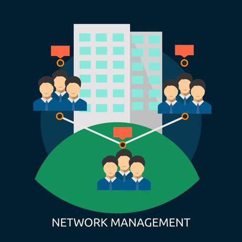 Network Management Conceptual illustration Design