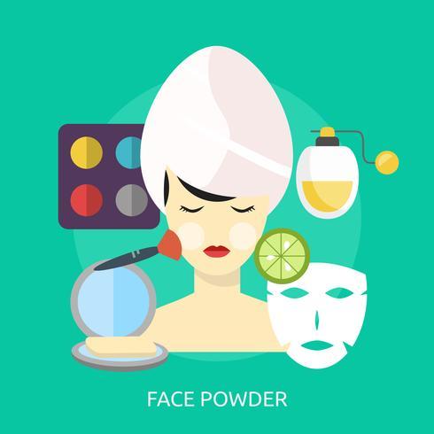 Face Powder Conceptual illustration Design