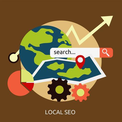 Local SEO Conceptual illustration Design vector