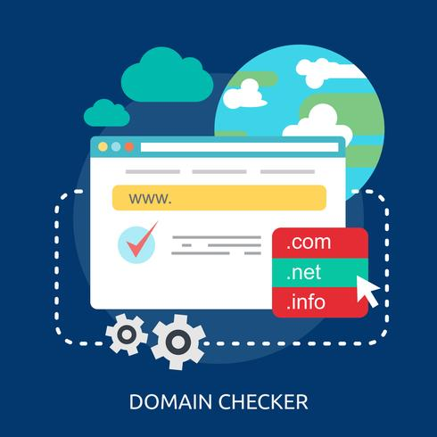 Domain Checker Conceptual illustration Design