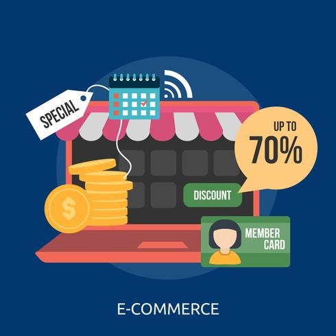 E-Commerce Conceptual illustration Design