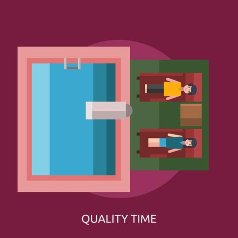 Quality Time Conceptual illustration Design