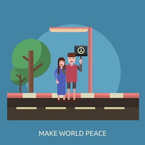Gör världsfred Konceptuell illustration Design