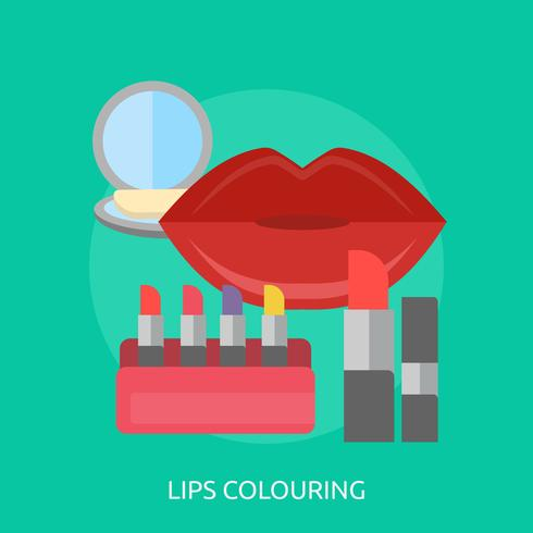 Lips Colouring Conceptual illustration Design