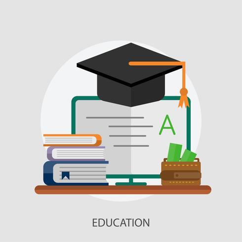 Onderwijs Conceptuele afbeelding ontwerp
