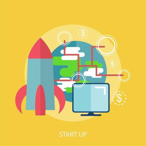 Start Up Conceptual illustration Design