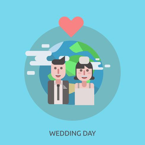 Wedding Day Conceptual illustration Design