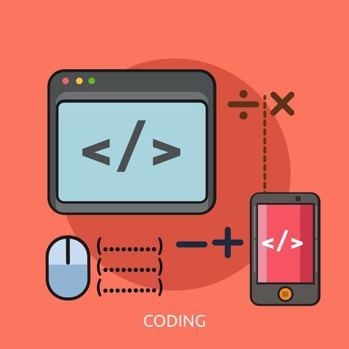 Coding Conceptual illustration Design