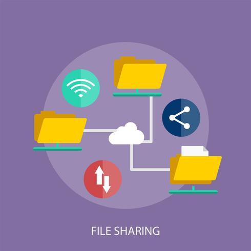 Ilustração conceitual de compartilhamento de arquivos Design