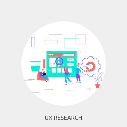 UX Research Illustration conceptuelle Design