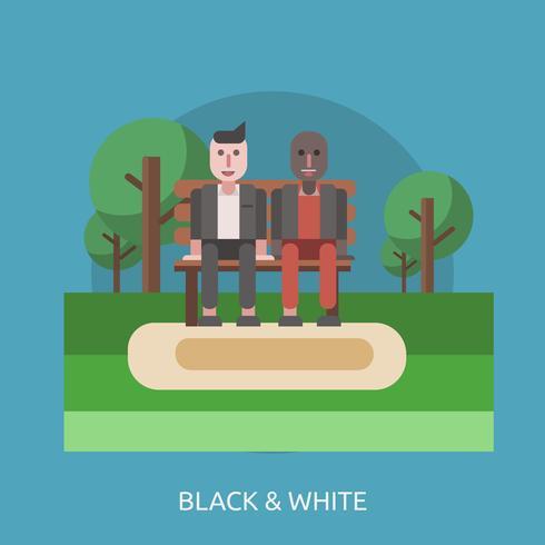 Black & White Conceptual illustration Design vector