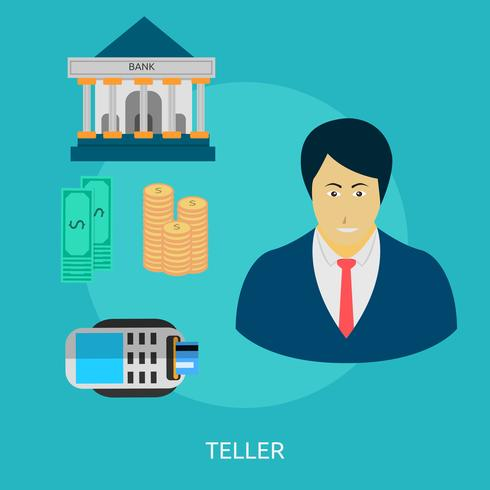 Teller Conceptual illustration Design