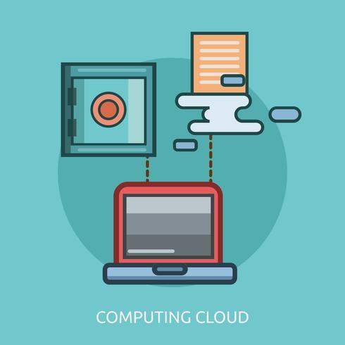 Computing Cloud Conceptual Design Conceptual illustration Design