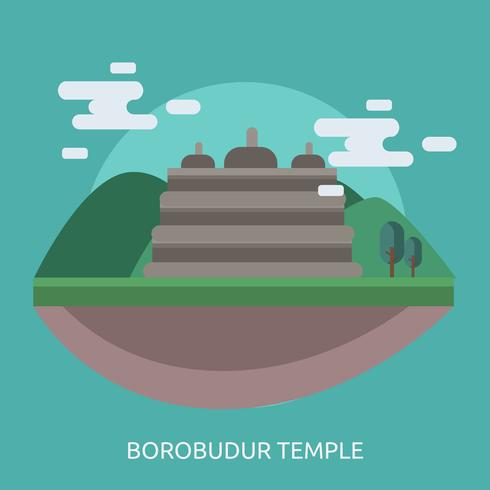 Borobudur Temple Conceptual illustration Design