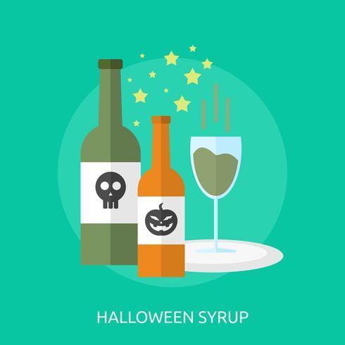 Progettazione concettuale dell'illustrazione dello sciroppo di Halloween