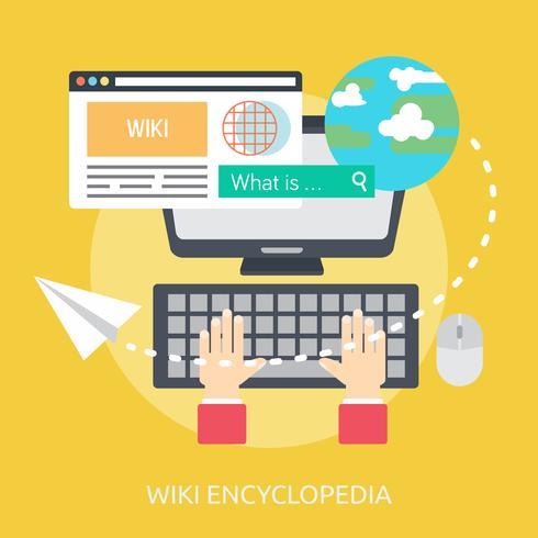 Wiki Encyclopedie Conceptuele afbeelding ontwerp