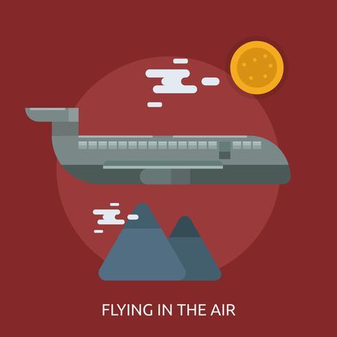 Flyga i luftkonceptuell design