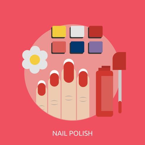 Nail Polish Conceptual illustration Design
