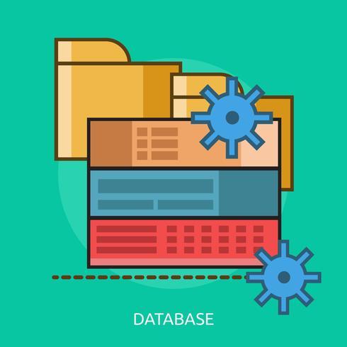 Database Conceptual illustration Design