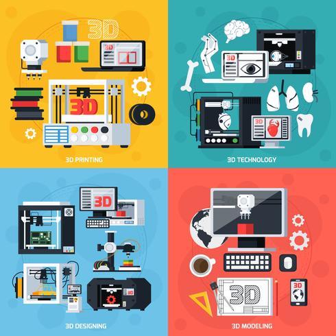 3d printing 2x2 design concept