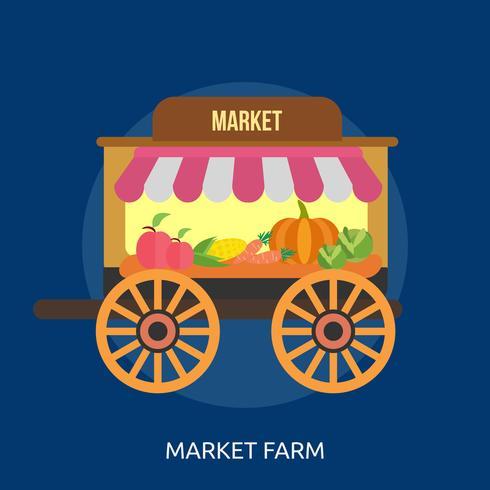 Market Farm Conceptual illustration Design